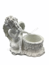 [DA02-2] GMS-F2- Angel With A Well - Ornament & Planter (Glossy White)
