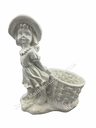 [DA16-2] GMS-F16- Girl With A Basket (Planter) (Glossy White)
