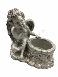 GMS-F2- Angel With A Well - Ornament & Planter